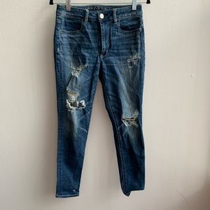 American Eagle High Rise Distressed Jeggings 6S